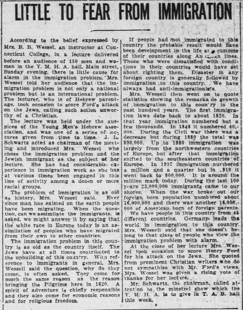 Norwich Bulletin, February 14, 1921