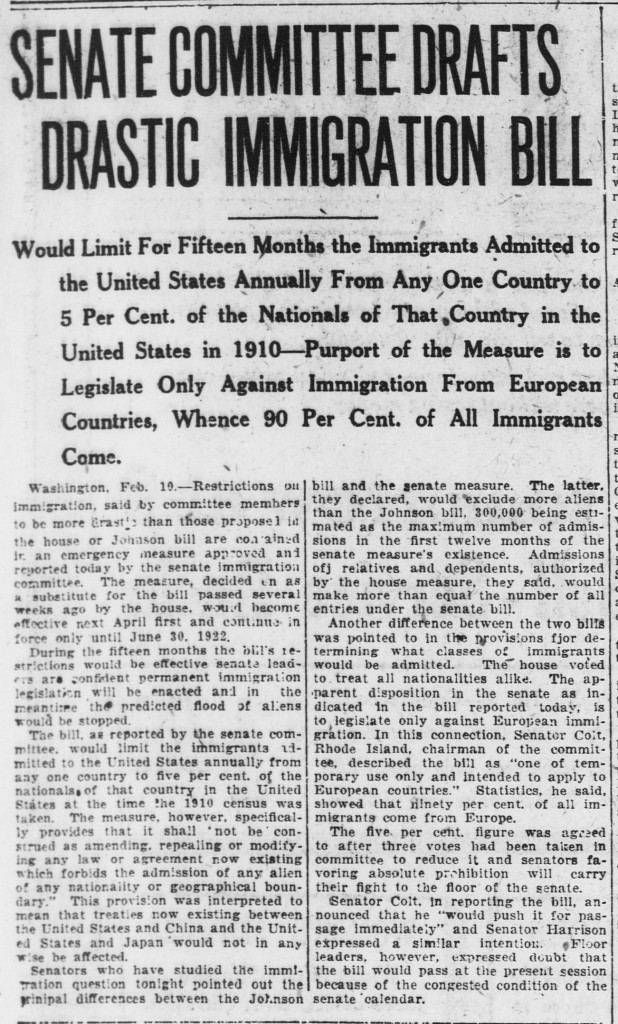 Norwich Bulletin, February 11, 1921
