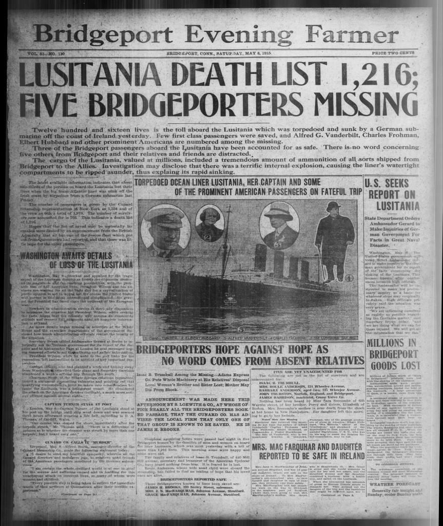 BEF Lusitania 1915-05-08