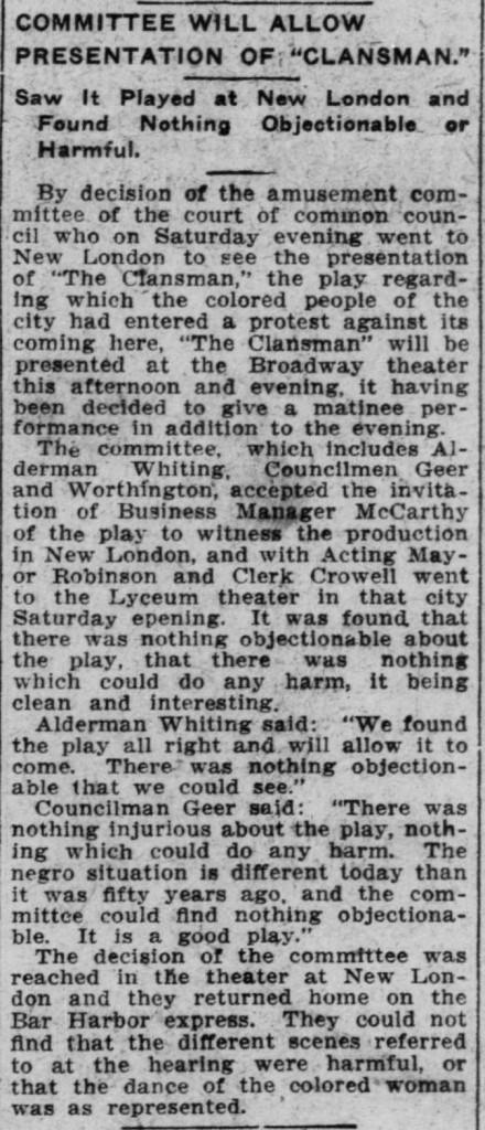 Norwich Bulletin, Sept. 27, 1909.