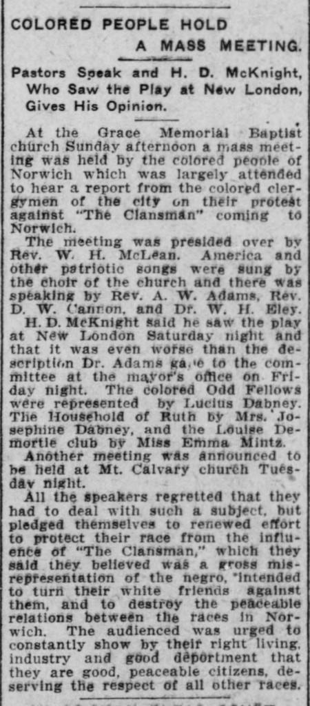 Norwich Bulletin, September 27, 1909