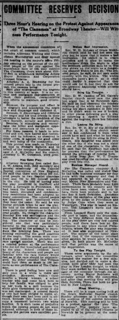Norwich Bulletin, September 25, 1909