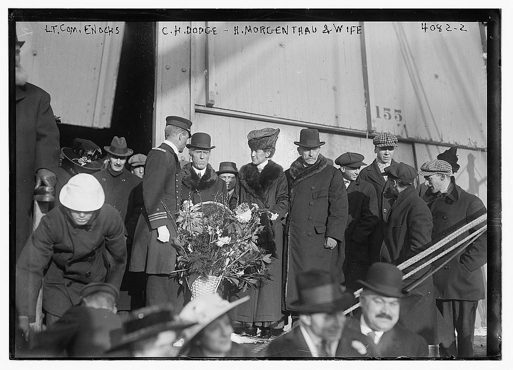 Lt. Com. Enochs, C.H. Dodge, H. Morgenthau & wife