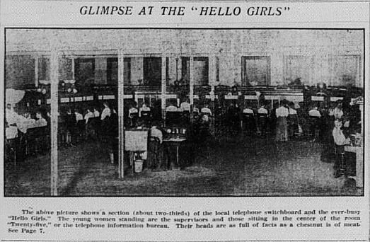 Telephone Exchange 1908