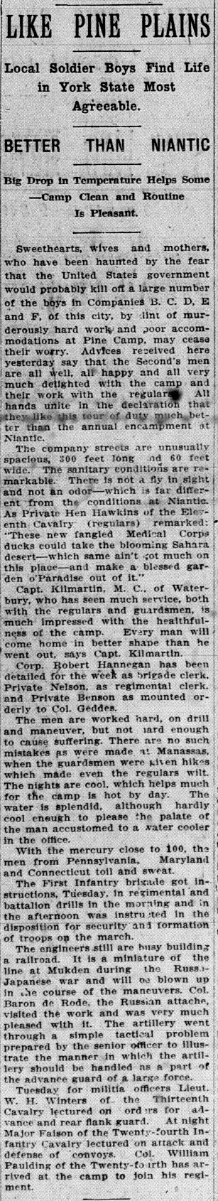 Daily Morning Journal-Courier, July 9, 1908, p. 1, col. 2