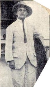 Photo of Luisa Capetillo in men's clothing, circa 1919.